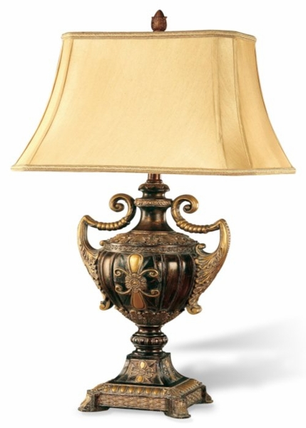 Gold Brown Table Lamp