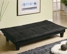Gray and Black Padded Convertible Sofa Bed