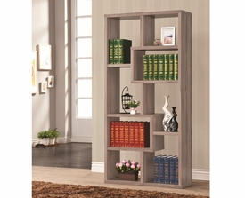 Gray Finish Multiple Cubed Rectangular Bookshelf