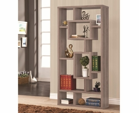 Gray Geometric Cubed Rectangular Bookshelf
