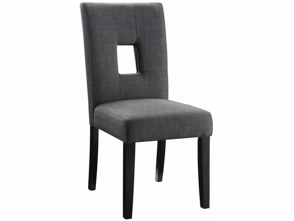 Gray Upholstered Dining Chair # 106656  (2pk)