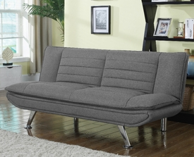 Gray Woven Fabric Sofa Bed # 503966