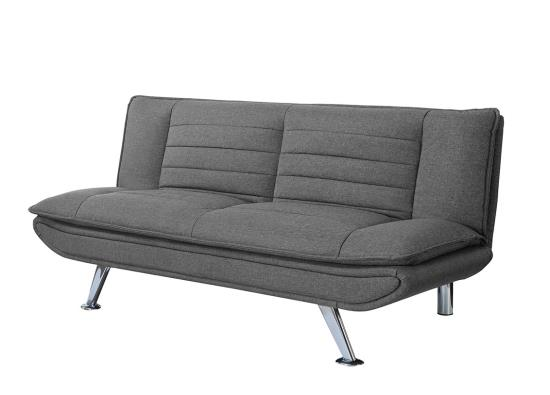 Charmant Gray Woven Fabric Sofa Bed # 503966