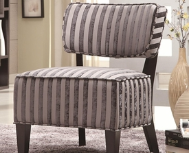 Grey Accent Chair with Wood Legs