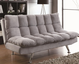 Grey Teddy Bear Fabric Upholstered Sofa Bed