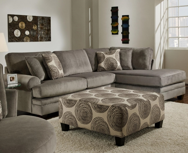 Groovy Padded Velvet Sectional By Albany 8642 Dallas