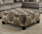 Groovy Padded Velvet Smoke Sectional # 8642