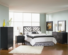 Grove Collection 5-pc Set with Designer Headboard