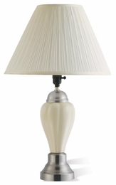 Ivory Finish Ceramic Table Lamp