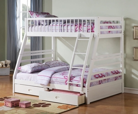 Jason White Finish Twin/Full Bunk Bed