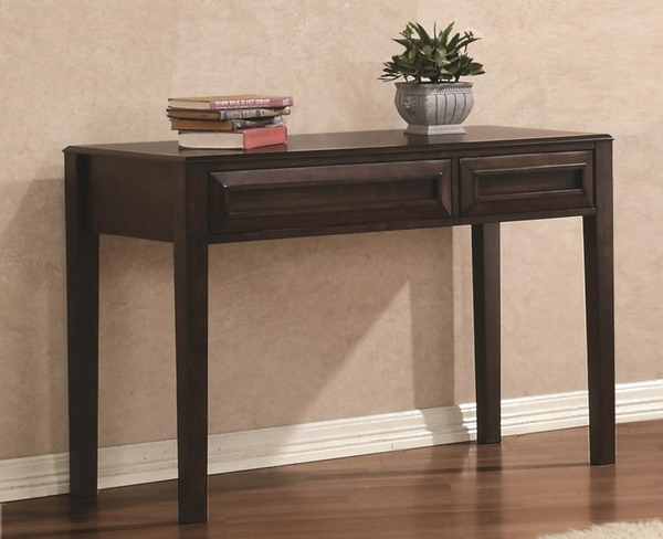 Maple Oak Finish Writing Table Desk w/ 2 Drawers
