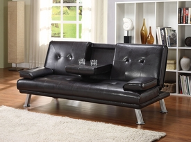 Kayden Espresso PU Adjustable Sofa Set