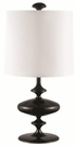 Lacquered Black Base Table Lamp