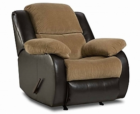 Lancaster Walnut Rocker Recliner