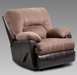 Laredo Chocolate Rocker Recliner