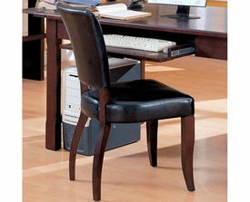 Laval Desk Chair with Black Faux Leather