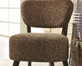 Leapard Pattern Accent Chair with with Padded Seat