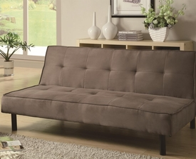 Light Brown Microfiber Sofa Bed