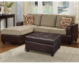 Logan 3-Pc Pebble Sectional Sofa