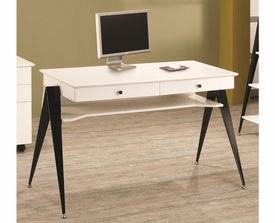 Lori Contemporary Two Drawer Computer Desk