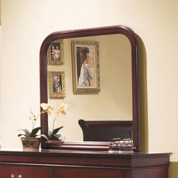 Louis Philippe Curved Edge Mirror