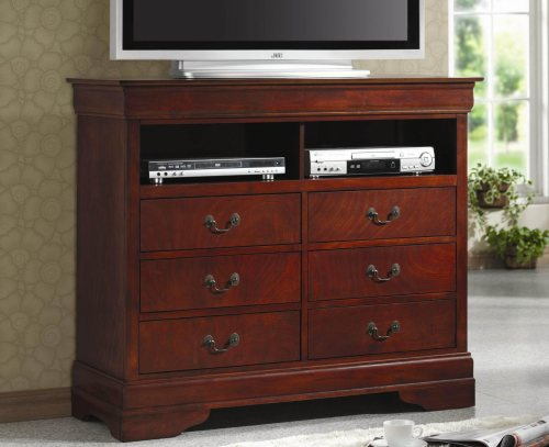 Louis Philippe Media 6 Drawer Chest