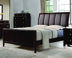 Madison Dark Merlot Bed