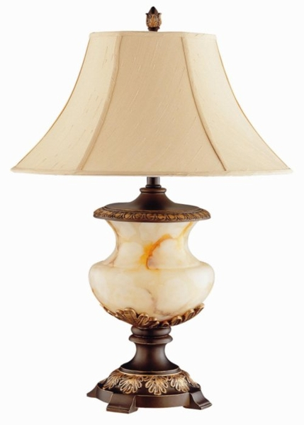 Marble Look Table Lamp