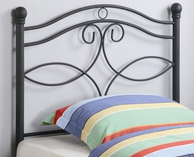Matte Dark Finish Twin Metal Headboard