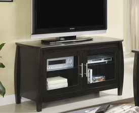 Media Console with Glass Doors