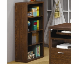 Medium Brown Finish Bookcase with 4 Shelves