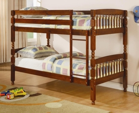 Medium Pine Finish Twin Over Twin Bunk Bed