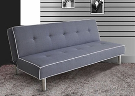 Melva Gray Fabric Adjustable Sofa