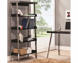 Metal and Wood Bookcase with 4 Shelves