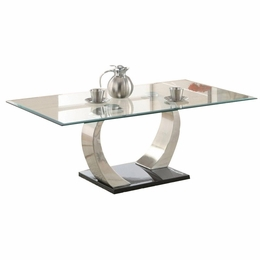 Metal Curved Base Coffee Table