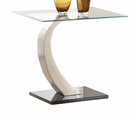 Metal Curved Base End Table