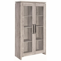 Rustic Grey Tall Cabinet