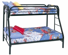 Metal Twin Over Full Bunk Bed with Side Ladders