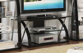 Modern Black TV Stand w/opt Shelves