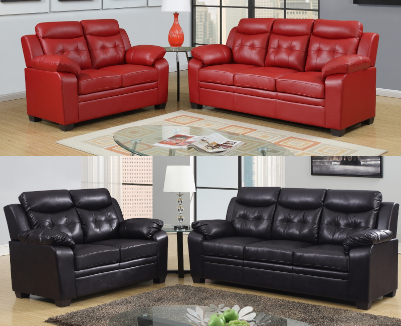 Gray leather 2 pc sofa set p 8800set furniture 4 less dallas for Furniture 4 less dallas