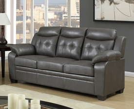 Modern Gray Leather Sofa P-8800S|Furniture 4 Less|Dallas