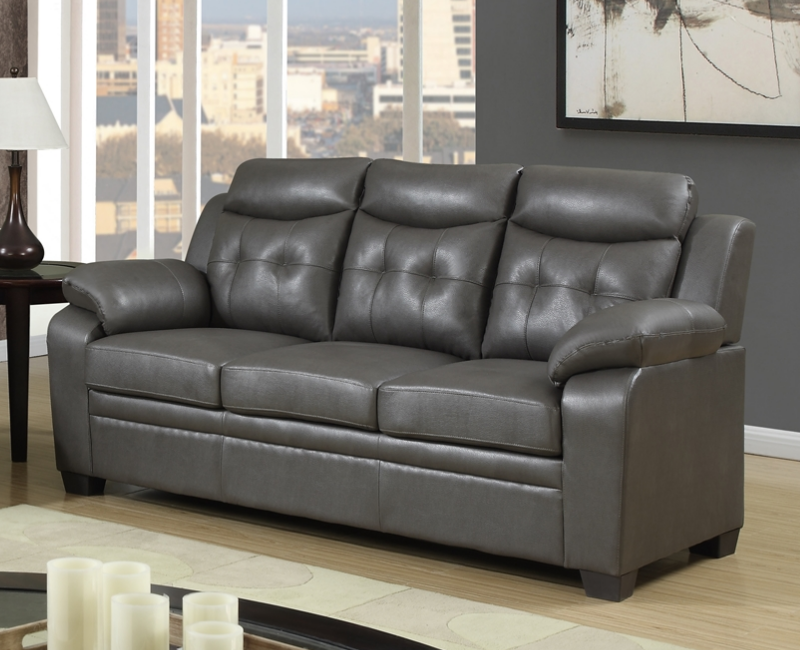 Modern gray leather sofa p 8800s furniture 4 less dallas for Furniture 4 less dallas tx