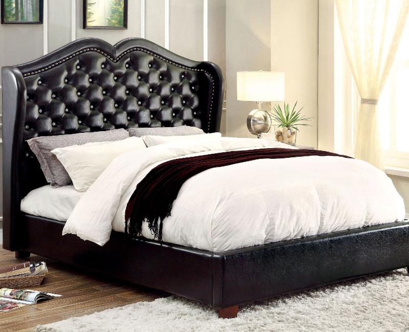with queen nailhead suede trim gr grey and bed tufted velvet candace products furniture basil chrome frame finishing victoria platform