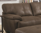 Murik Brown Coated Microfiber Sectional # 500325 DISC.