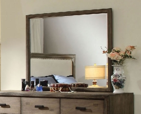 Natural Ash Finish Dresser Mirror
