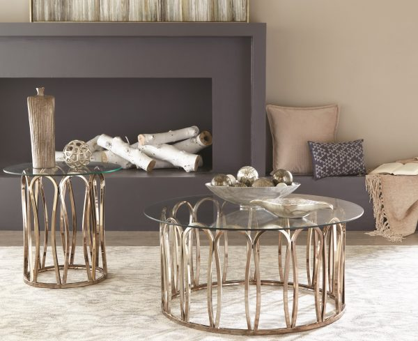 Chocolate Chrome 3-pc Coffee Table Set