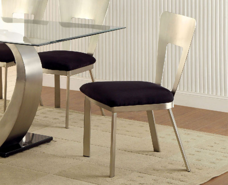 Nova modern side chair 2pk by furniture of america for Furniture of america dallas texas