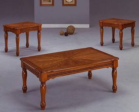 Oak 3-Pc Coffee Table Set
