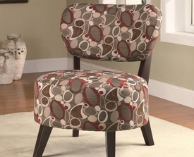 Oblong Accent Chair with Wood Legs