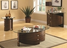 Chestnut Finish Occasional Collection 3-pc Set